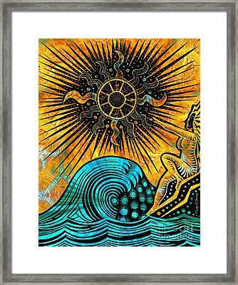 Big Sur Sun Goddess Framed Print