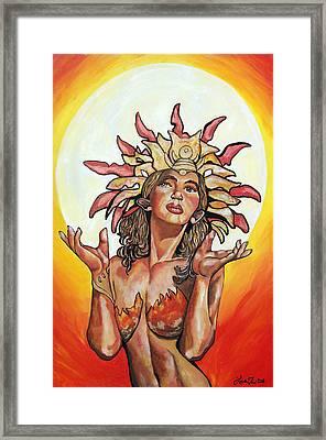 Sun Goddess Of Vallejo Framed Print