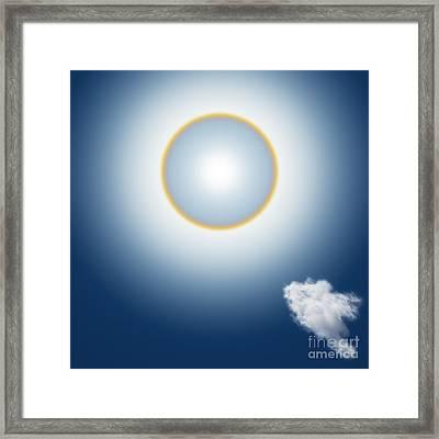Sun Halo Framed Print by Atiketta Sangasaeng