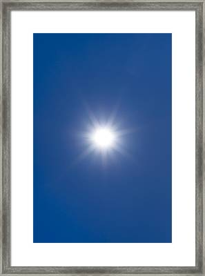 Sun In A Blue Sky Framed Print by Science Photo Library
