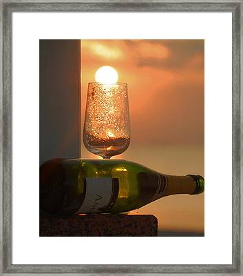 Framed Print featuring the photograph Sun In Glass by Leticia Latocki
