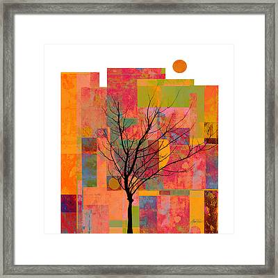 Sun In The City - Abstract - Art  Framed Print by Ann Powell