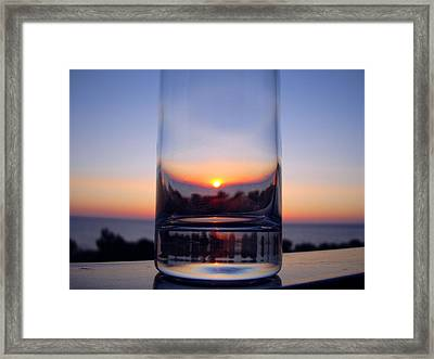 Sun In The Glass Framed Print by Andreas Thust