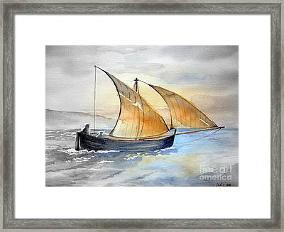 Sun In The Sails  Framed Print
