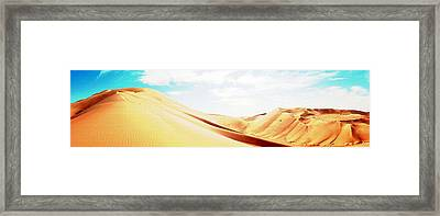 Sun In The Sands Framed Print by Peter Waters