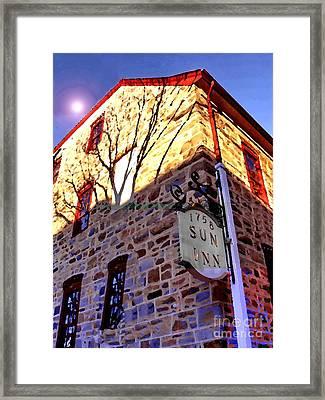 Sun Inn Bethlehem Pa Framed Print by Jacqueline M Lewis