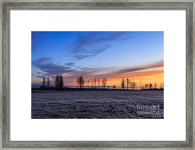 Sun Is Rising And Painting  Framed Print