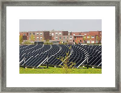 Sun Island In Almere Framed Print