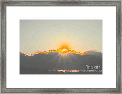 Sun Framed Print by Jay Nodianos
