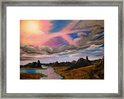 Sun Jet Framed Print by Sharon Duguay