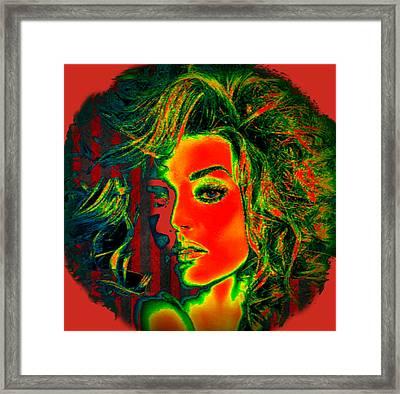 Framed Print featuring the digital art Sun Kissed by Digital Art Cafe