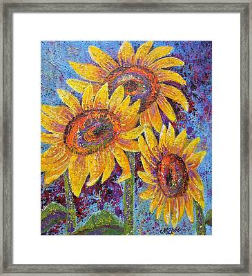 Framed Print featuring the painting Sun-kissed Beauties by Margaret Bobb