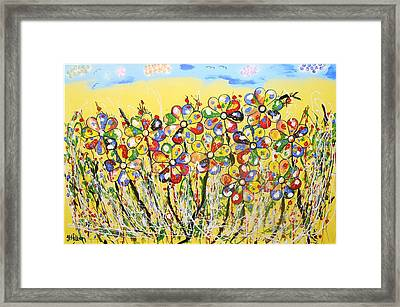 Sun-kissed Flower Garden Framed Print