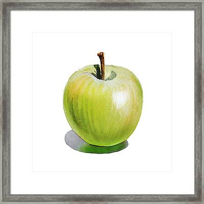 Sun Kissed Green Apple Framed Print by Irina Sztukowski