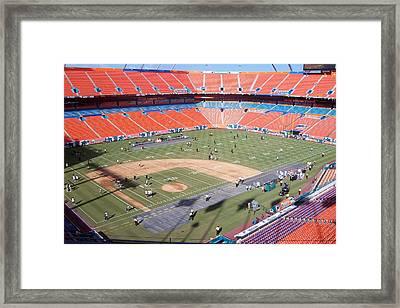 Sun Life Stadium Framed Print by Georgia Fowler