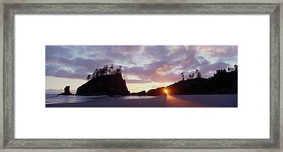 Sun Light Coming Through An Arch Framed Print by Panoramic Images