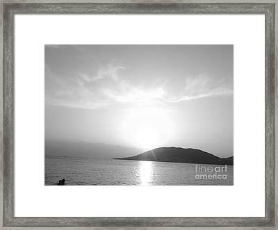 Sun Light In Black Framed Print by Katerina Kostaki