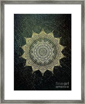 Sun Mandala - Background Variation Framed Print