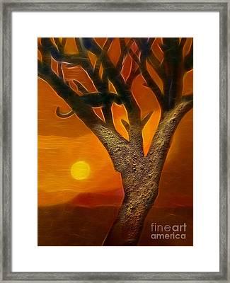 Sun Of Africa Framed Print by Lutz Baar