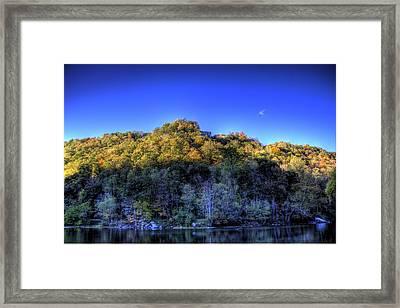 Framed Print featuring the photograph Sun On Autumn Trees by Jonny D