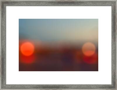 Sun On Horizon Framed Print