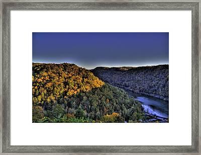 Framed Print featuring the photograph Sun On The Hills by Jonny D