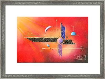 Sun On The Lying Cross Framed Print by Franziskus Pfleghart