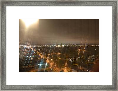 Sun Over City Lights Framed Print by Naomi Berhane