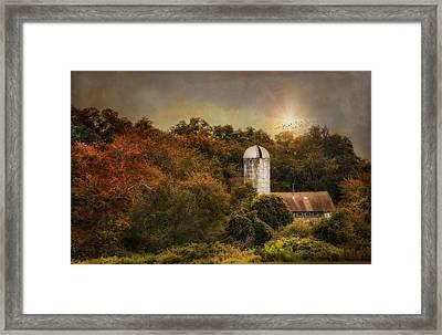 Sun Over Silo Framed Print by Robin-Lee Vieira