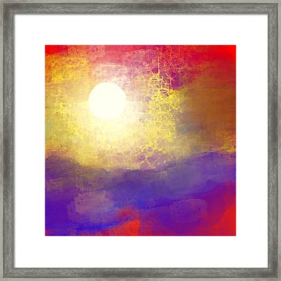 Sun Over The Canyon Framed Print by Jessica Wright
