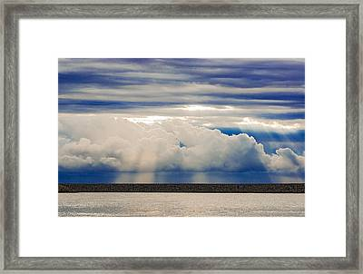 Sun Over The Clouds Framed Print