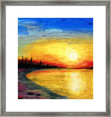Sun Over The Lake Framed Print
