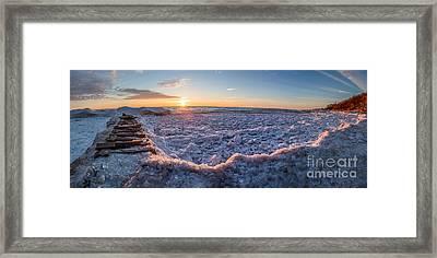 Sun Peaking Thru Framed Print by Andrew Slater