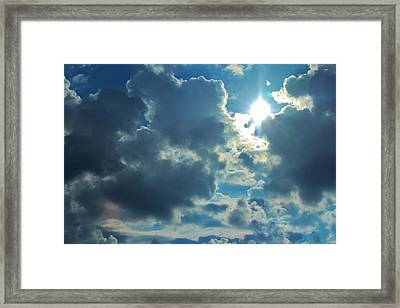 Sun Peeping Out Framed Print