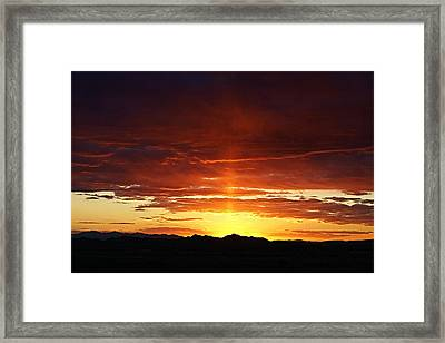 Sun Pillar Framed Print