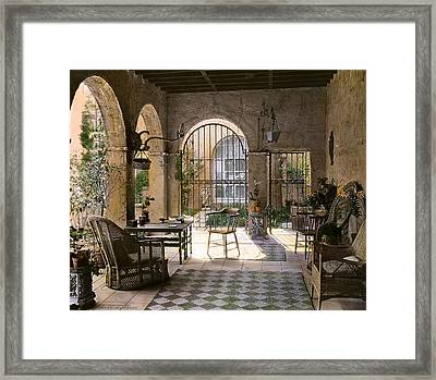 Sun Porch Framed Print by Terry Reynoldson