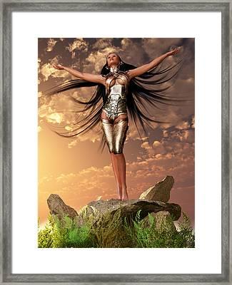Sun Priestess 2 Framed Print
