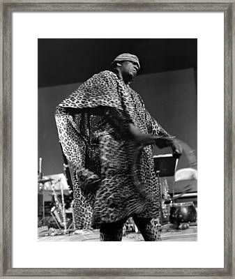 Sun Ra 1968 Framed Print by Lee  Santa