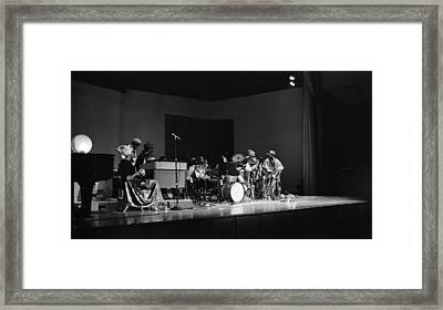 Sun Ra Arkestra At U C Davis Framed Print by Lee  Santa