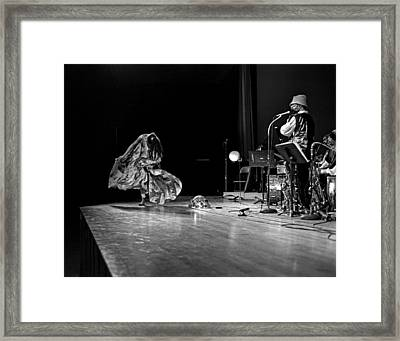 Sun Ra Dancer And Marshall Allen Framed Print by Lee  Santa