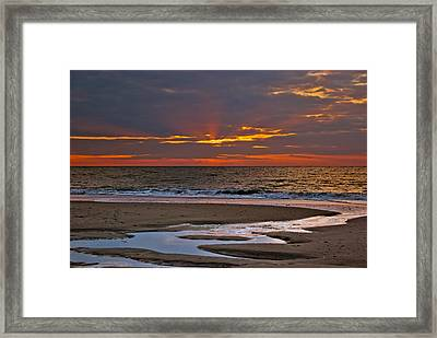 Sun Ray Sunrise Framed Print