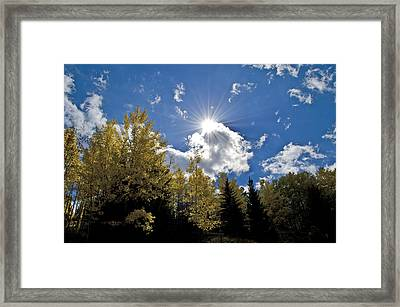 Sun Rays Across Colorado Mountain Framed Print
