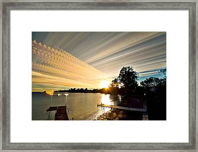 Sun Rays And Wind Streams Framed Print