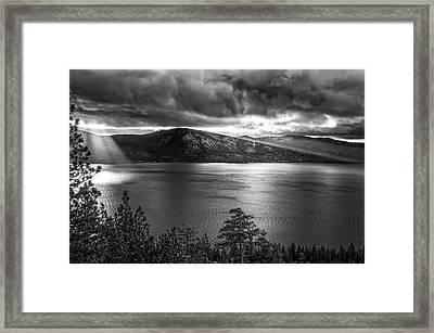 Sun Rays At Sunrise Framed Print by Marc Crumpler