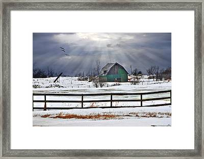 Sun Rays Framed Print by David Simons