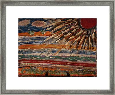 Sun Rays Framed Print by Didier MAJOIE