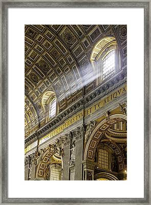 Sun Rays In St. Peter's Basilica Framed Print