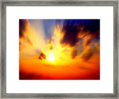 Sun Rays Framed Print by Jose Lopez