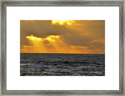 Sun Rays Through The Clouds Framed Print by Alex King