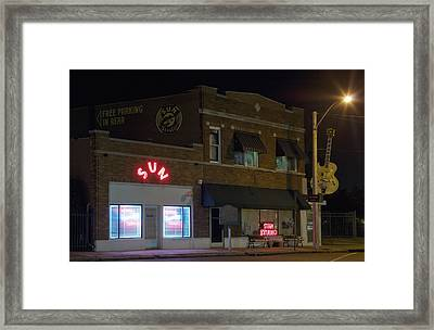 Sun Records Studio In Memphis Framed Print by Mountain Dreams